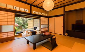 古き良き日本を感じる客室。